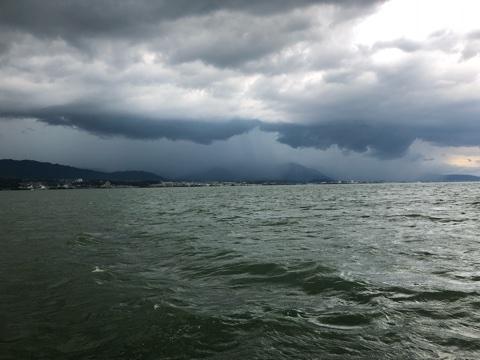 8月31日ガイドはゲリラ雷雨で2度の中断に負けず・・・?厳しかったですねぇ~
