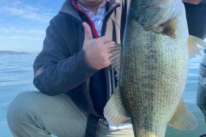 11月9日琵琶湖ガイドはジャスターフィッシュ2.5と3.5DSで数釣りの後はジャスタークローラーのネコリグなどでサイズ狙いで45と43他で計30本超でした。