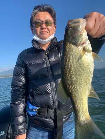 11月14日琵琶湖ガイドは数は20本以上にグッドサイズも!GETNETジャスターフィッシュ3.5DSとワイルドサイドST65Lで!