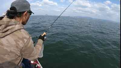 4月24日琵琶湖ガイドは56cmをキャッチ!GETNETジャスターフィッシュ3.5フィッシング遊オリカラ煌きファンタthe☆でロッドは当然ワイルドサイドST65L