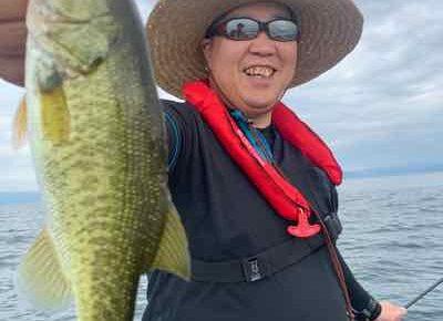 7月25日琵琶湖ガイド(1日遅れ更新)は違う魚に苦戦しながらもワイワイと夏の琵琶湖を満喫